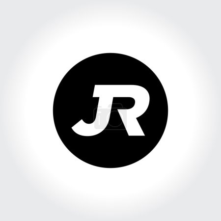 JR initial monogram circle logo