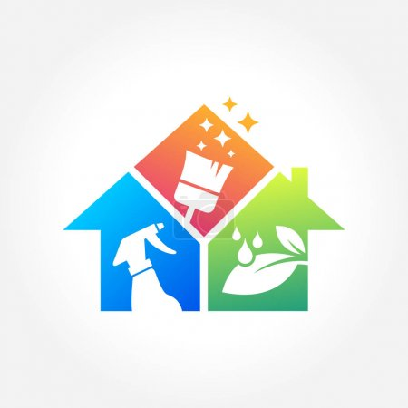 Illustration for A great symbol for your cleaning service business - Royalty Free Image