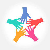 Hands represent Charity Community and group logo design