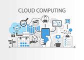 Cloud computing vector infographic