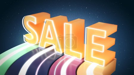Holiday sale and discount banner, 3d illustration