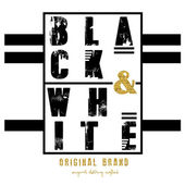 Black white original brand text