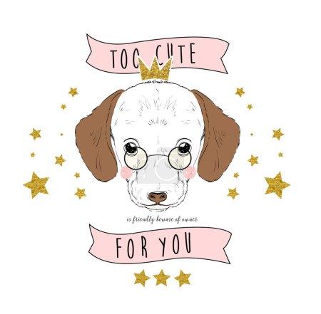 cute dog with slogan