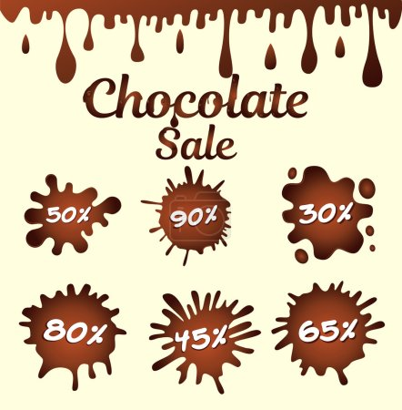 Chocolate sale icons