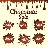 Chocolate sale icons vector illustration