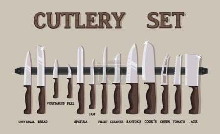 Cutlery set flat icons