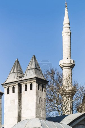 Minaret of the mosque in Istanbul