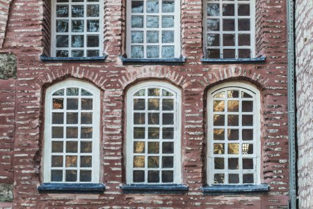 Beautiful stone and bricks facades