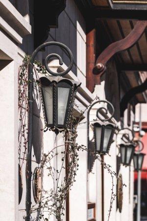 Beautiful old vintage metal lanterns