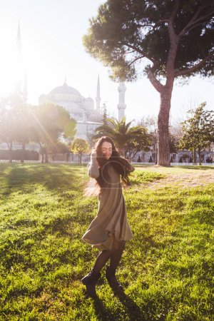 Woman  near the Blue Mosque