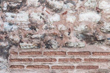 Stone and bricks old wall