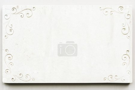 White marble classic blank