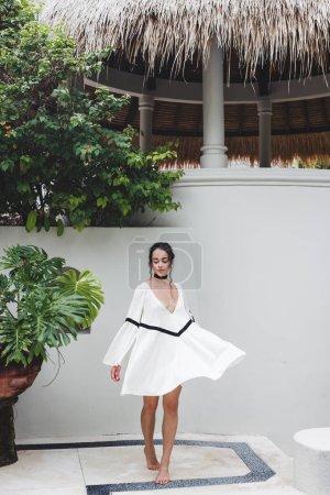 woman enjoying in private villa