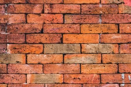 Grunge red bricks texture.