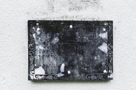 Black stone nameplate