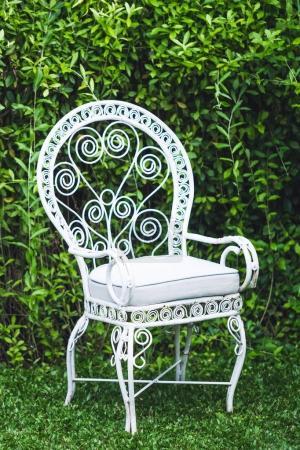 Vintage furniture in garden