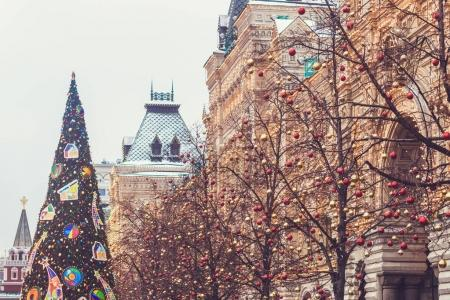 Streets fully decorated for Christmas