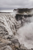 Dramatic view of famous Iceland waterfall Dettifoss. Breathtakin