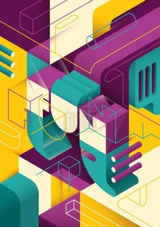 Geometric futuristic in color