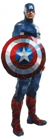 Captain America vector illustration Marvel