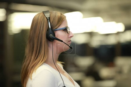 Female support assistant in office