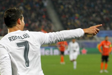 Portuguese footballer Cristiano Ronaldo