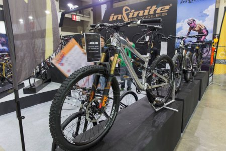 Photo for BANGKOK,THAILAND,4 May 2017:International Bangkok Bike 9th 2017. Largest Cycling Bike Expo in Thailand,Trend of Cycling Popular and Bike for Dad Asia is new large target of cycling market consumer. - Royalty Free Image