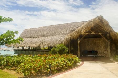 exotic hut over the sea