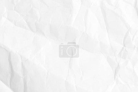 Photo pour Fond en papier froissé blanc, texture vieille pour les économiseurs d'écran de conception web. Modèle à différentes fins ou création d'emballages . - image libre de droit
