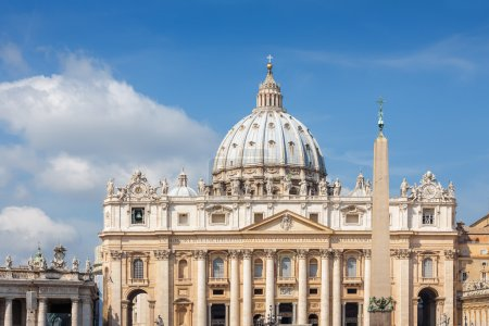 Papal Basilica of St. Peter in the Vatican, Rome, Italy.