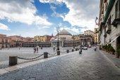 Plebiscito's Square and S. Francis of Paola Basilica, Naples, Campania region, Italy.