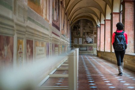Autumnal trekking in the province of Siena, from Buonconvento to Monte Oliveto Maggiore Abbey