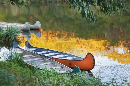 Colorful Kayaks on the river.