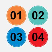 A set of circular buttons one two three four character sequences load signs consistent fully edit vector image