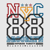 T-shirt New york Brooklyn sports athletics Typography Fashion college sport design the logo the number of floral patterns graphic print image design fashion original design clothing