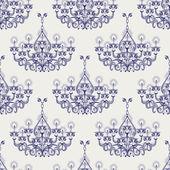 Antique gothic chandeliar seamless pattern