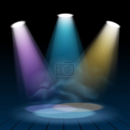 Floodlight spotlight illuminates scene background