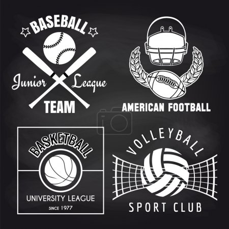 Set of sport banners on