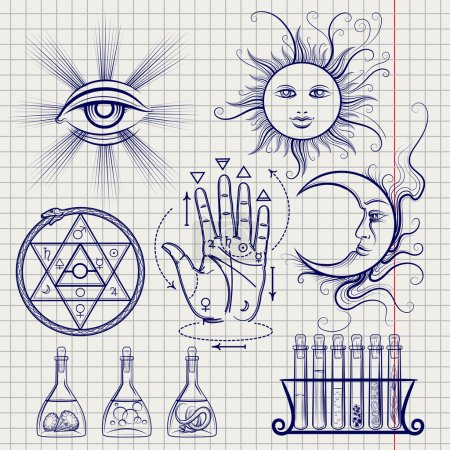 Sketch of isoteric and alchemy elements