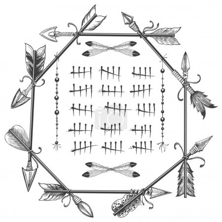 Couting tally numbers in arrows frame