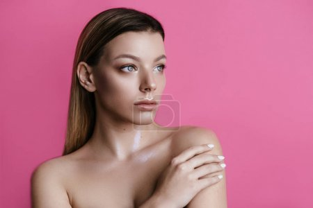 woman with natural make up