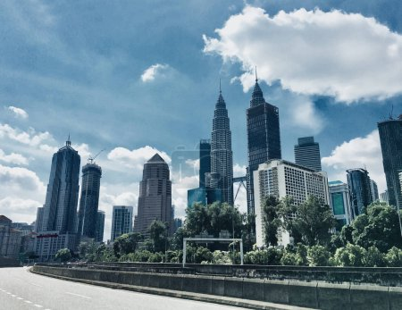 Photo for Skyscraper City landscape Kuala Lumpur, Malaysia - Royalty Free Image