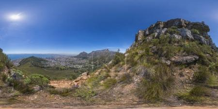 Full 360 virutal reality of Lions Head and Table Mountain peaks in Cape Town, South Africa