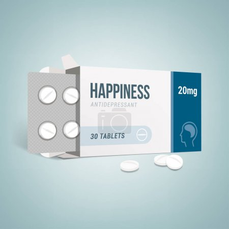 Antidepressants drug box