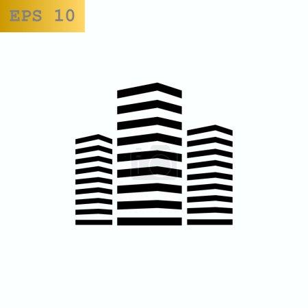 city multistorey buildings icon