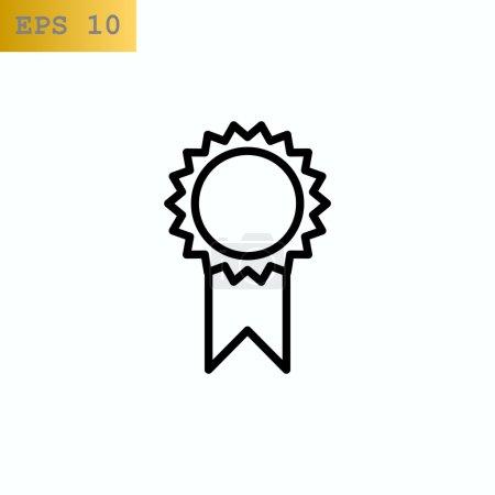 Illustration for Rosette medal award icon. vector illustration - Royalty Free Image
