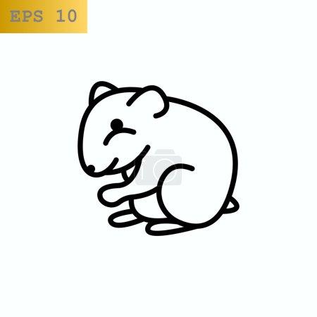 Hamster pet animal icon