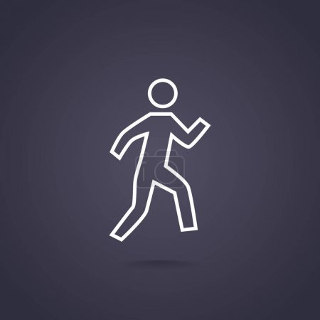 Illustration for Walking man web icon, vector illustration - Royalty Free Image