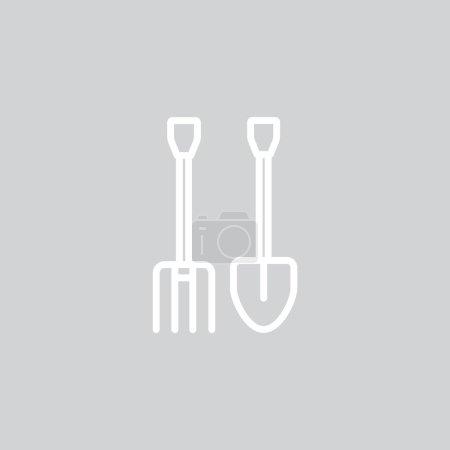 gardening tools web icon