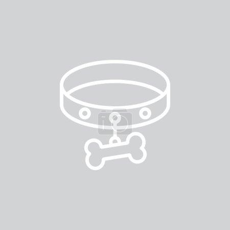 dog necklace web icon